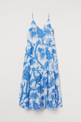 H&M Long Sleeveless Dress - Blue