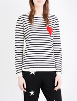Chinti and Parker Breton Heart-intarsia cashmere jumper