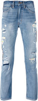 Levi's distressed jeans