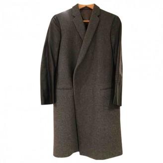 Celine Grey Wool Coat for Women
