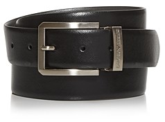 Giorgio Armani Men's Embossed Leather Belt