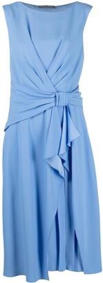 Alberta Ferretti Tie-Fastening Sleeveless Mini Dress