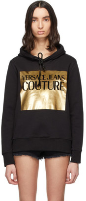 Versace Jeans Couture Black Logo Patch Hoodie
