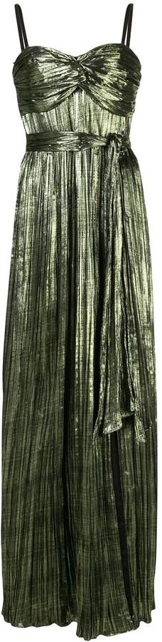 Jonathan Simkhai Pleated Tie Waist Dress