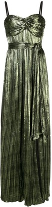 Jonathan Simkhai Pleated Tie Waist Dress