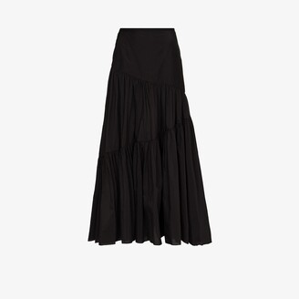 Matteau Asymmetric Tiered Maxi Skirt