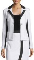 Nanette Lepore Two-Tone One-Button Jacket