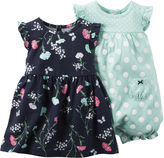 Carter's 2-pc. Sleeveless Dress & Romper Set - Baby Girls newborn-24m