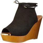 Qupid Women's GIMMICK-35AX Wedge Sandal