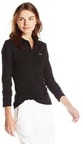 Lacoste Women's Long Sleeve Stretch Pique Polo