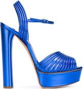 Casadei open toe platform sandals - women - Leather/Kid Leather - 35.5