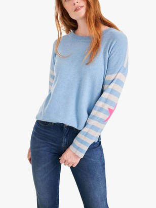 White Stuff Carrie Striped Star Sleeve Cashmere Jumper