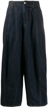 Societe Anonyme Tapered Wide-Leg Jeans