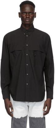 Givenchy Black Perforation Shirt