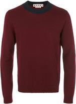 Marni contrast neck jumper