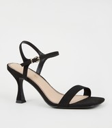 New Look Suedette Slim Flared Heel Sandals