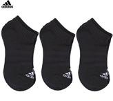 adidas 3 Pack of Black Branded Socks