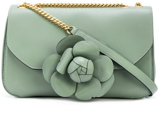 Oscar de la Renta Floral Cross Body Bag