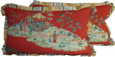 One Kings Lane Vintage Chinoiserie Pillows, Pair