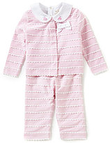 Kate Spade Baby Girls 3-9 Months Embroidered-Collar Bodysuit, Scalloped Top & Bottoms Set