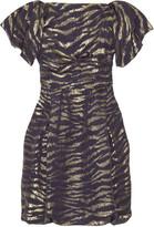 Silk lurex bubble dress