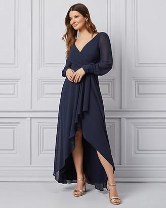 Le Château Chiffon V-Neck Wrap-Like Gown