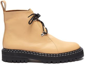 ATP ATELIER 'Cozzana' contrast topstitch leather ankle boots