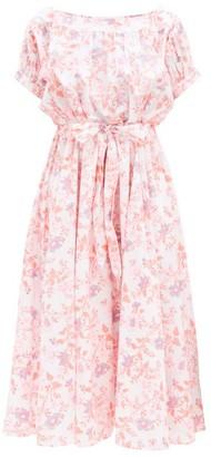 Thierry Colson Vera Floral-print Cotton Dress - Pink Print