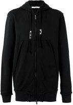Damir Doma open seam zipped hoodie - men - Cotton/Polyester - S