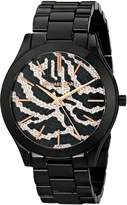 Michael Kors Women's Runway MK3316 Black Stainless-Steel Quartz Watch