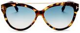 Tom Ford Cat Eye Sunglasses, 57mm