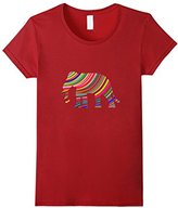 Men's Colorful Abstract Elephant t-shirt 2XL