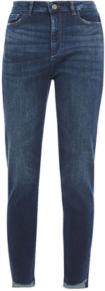 DL1961 Distressed High-rise Skinny Jeans