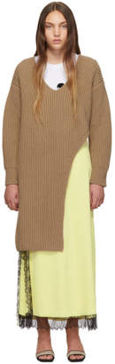 Stella McCartney Brown Slashed Sweater