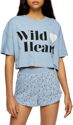Topshop Wild Heart Boxy Pajamas