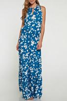 Love Stitch Lovestitch Butterfly Print Maxi Dress
