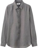 Uniqlo Women's Premium Linen Long Sleeve Button-Front Shirt