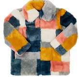 Stella McCartney Kids' Colorblocked Faux-Fur Coat