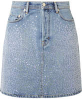 Acne Studios Sharmayne Sequined Denim Mini Skirt - Blue