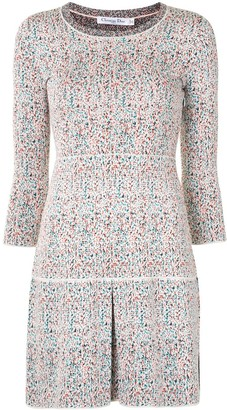 Christian Dior Pre-Owned Knitted Box Pleat Dress