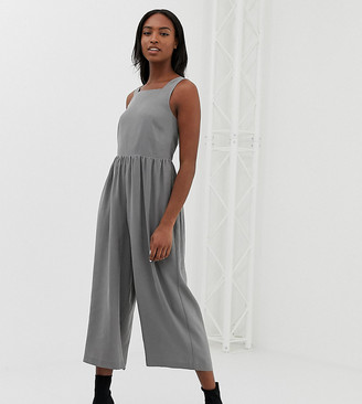 Asos Tall ASOS DESIGN Tall minimal jumpsuit with ruched waist