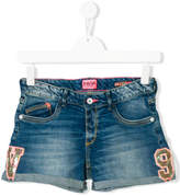 Vingino sequinned patch denim shorts