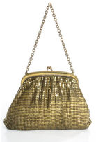 WHITING and DAVIS CO. WHITING & DAVIS CO. Gold Tone Metal Chain Mail Kiss Lock Evening Coin Purse