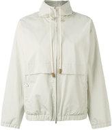 Fabiana Filippi drawstring zipped jacket - women - Cotton/Acetate/Polybutylene Terephthalate (PBT) - 40