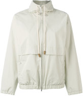 Fabiana Filippi drawstring zipped jacket - women - Cotton/Acetate/Polybutylene Terephthalate (PBT) - 44