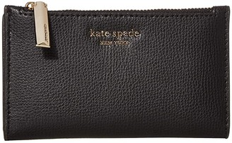Kate Spade Sylvia Small Slim Bifold Wallet (Black) Cosmetic Case