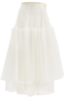 Brock Collection Robina Silk-tulle Skirt - Cream