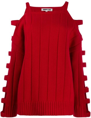 Mcq Swallow Cut Out Knitted Jumper