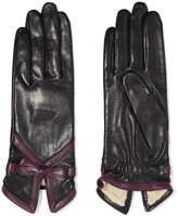 Agnelle Bow-embellished leather gloves