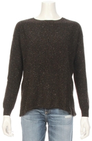Autumn Cashmere Back Slash Rib Detail Sweater